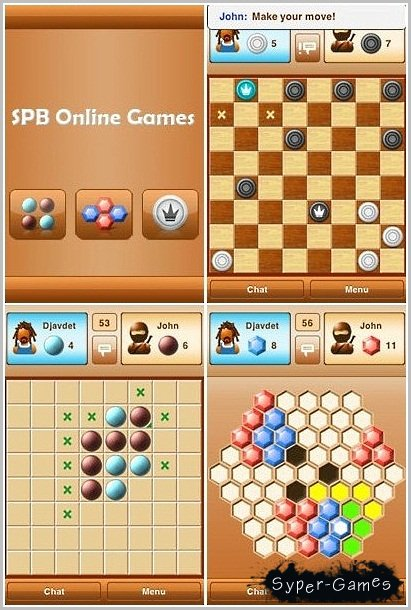 В вашем распоряжении русские и английские шашки, хексагон, реверси. Год: 2