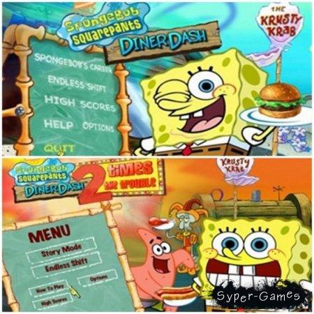 Спанч Боб Квадратные штаны Закусочная / SpongeBob SquarePants Diner Dash. 2 в 1 - полная версия